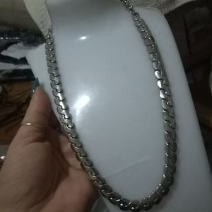 Vintage heavy S chain necklace